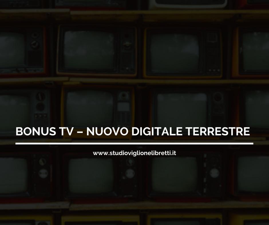 BONUS TV – NUOVO DIGITALE TERRESTRE