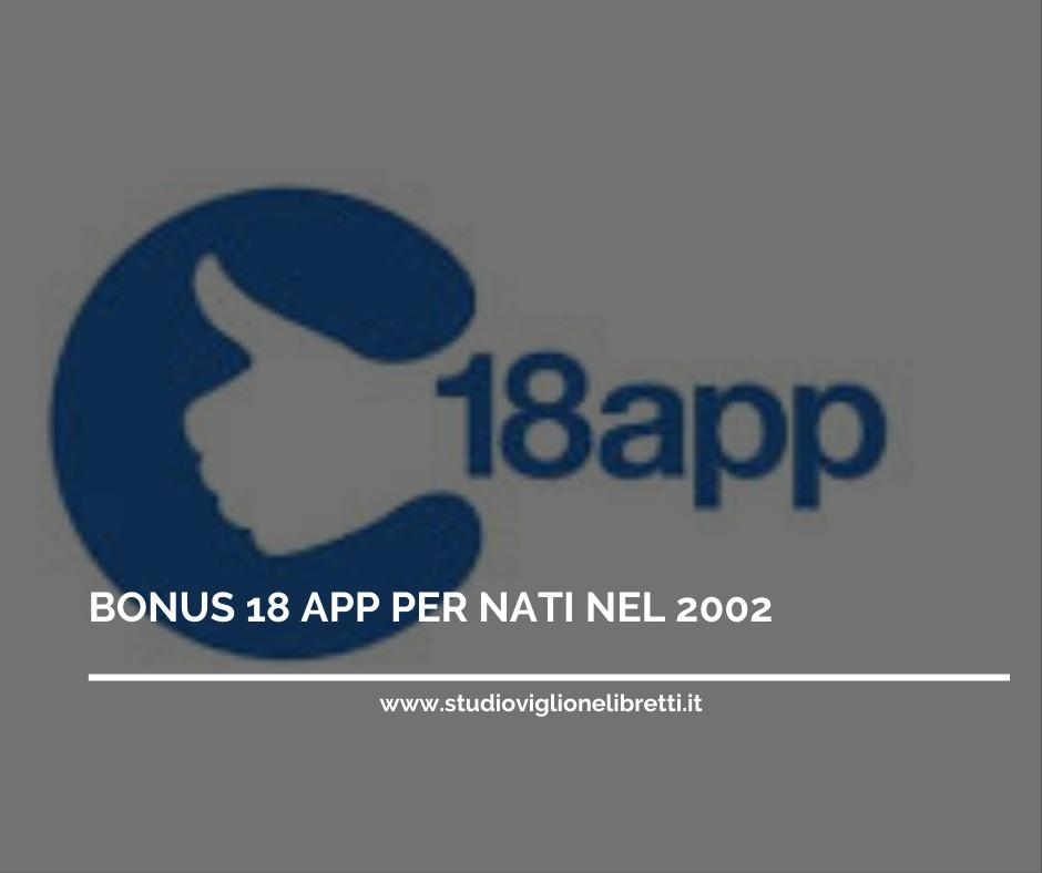 BONUS 18 APP – NATI NEL 2002