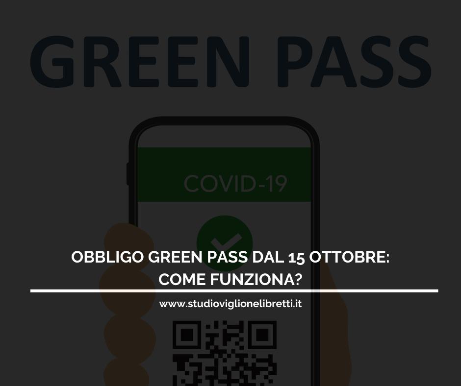 OBBLIGO GREEN PASS NELLE AZIENDE: Come Funziona?